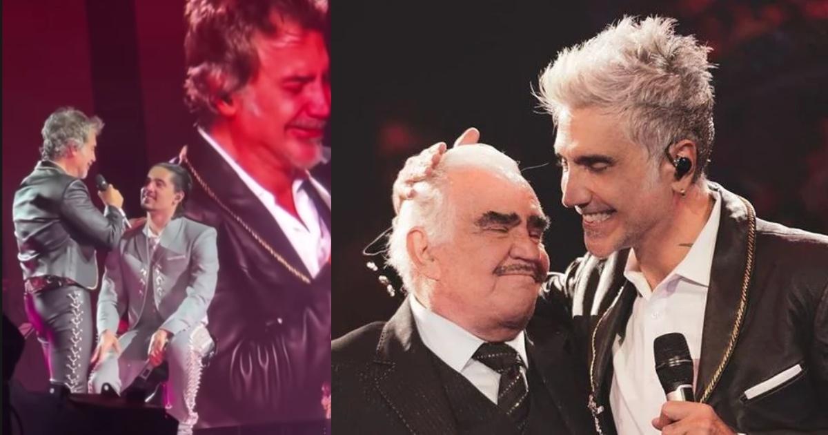 It breaks Alejandro Fernandez breaks into tears in full concert
