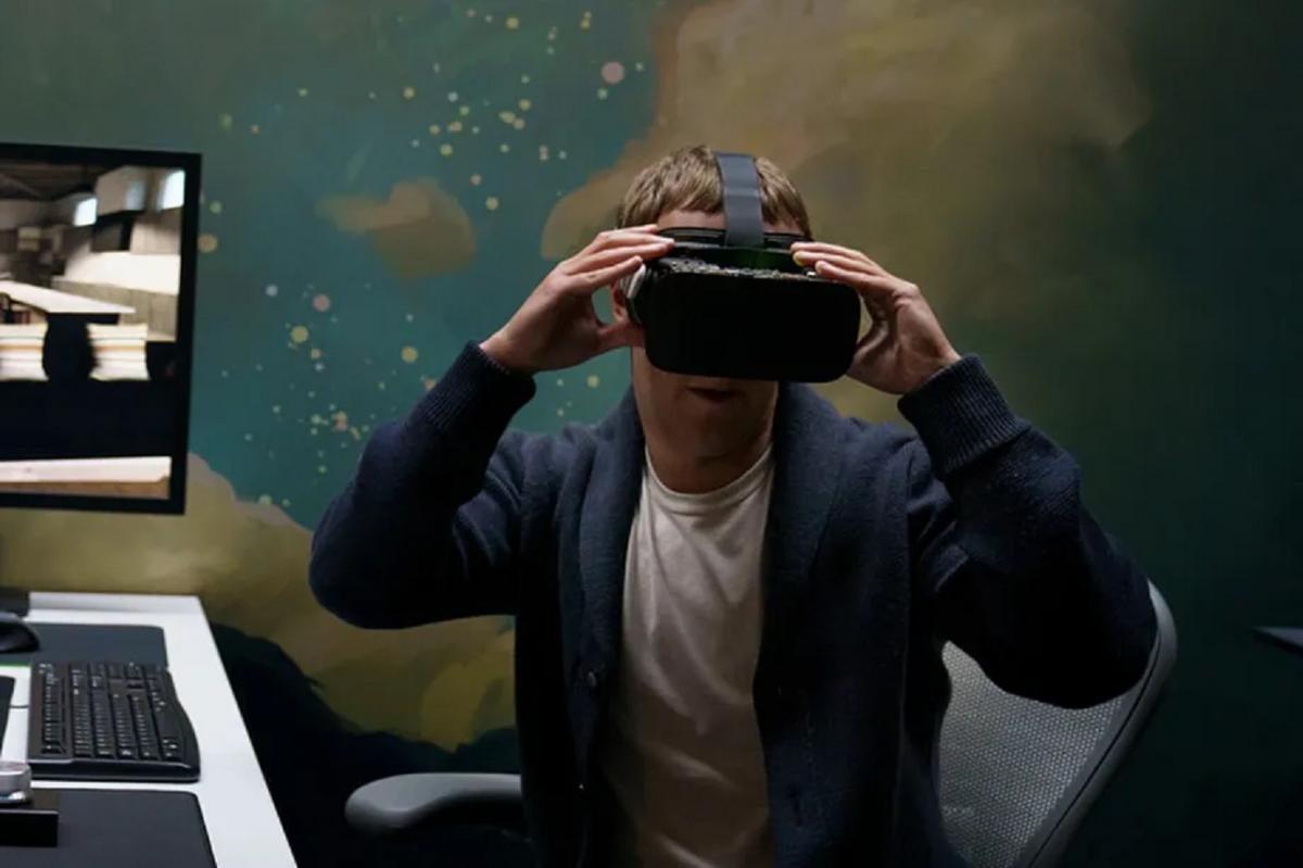 Mark Zuckerberg and Andrew Bosworth show some augmented reality prototypes