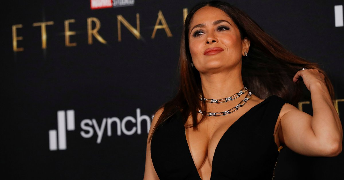 Salma Hayek and Angelina Jolie attended the premiere of Marvels