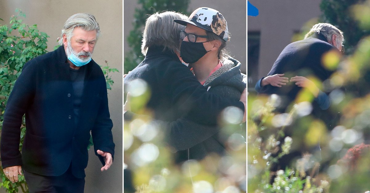 The emotional photos of Alec Baldwins meeting with the husband