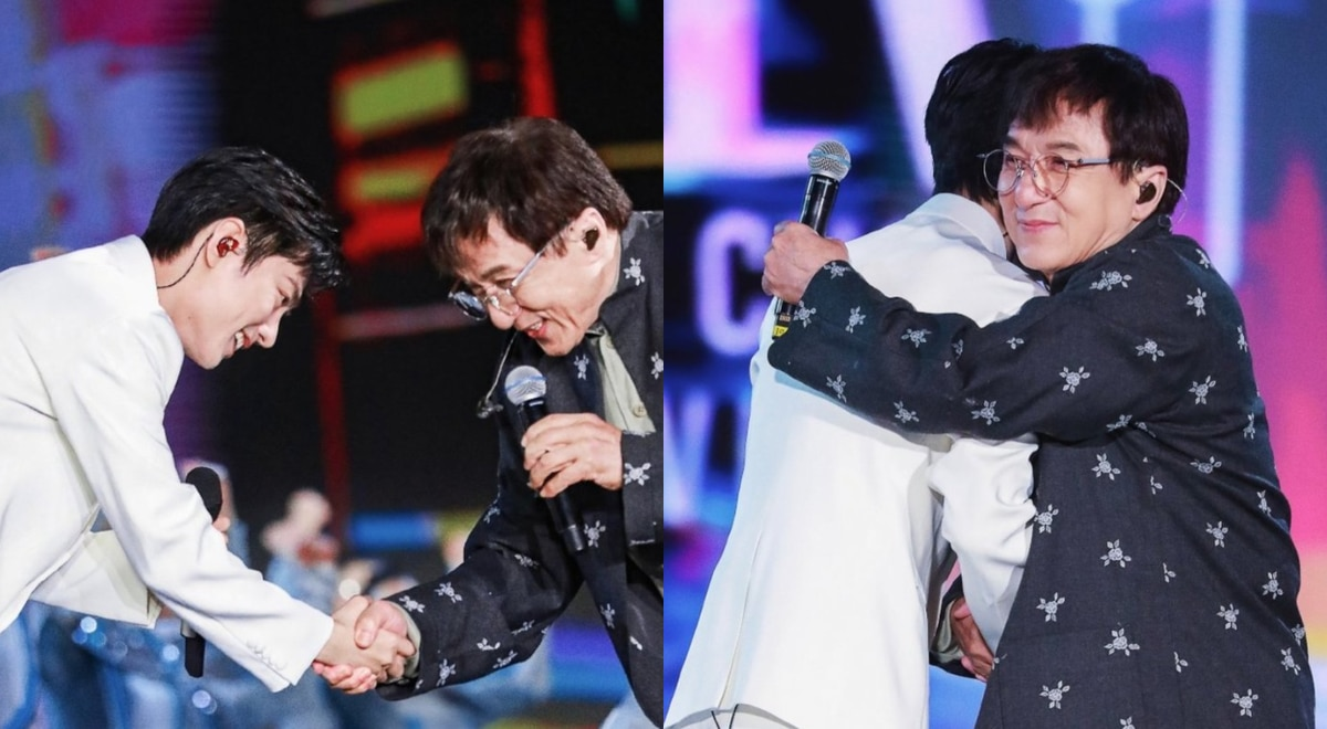 Xiao Zhan and Jackie Chan sing together and cause international